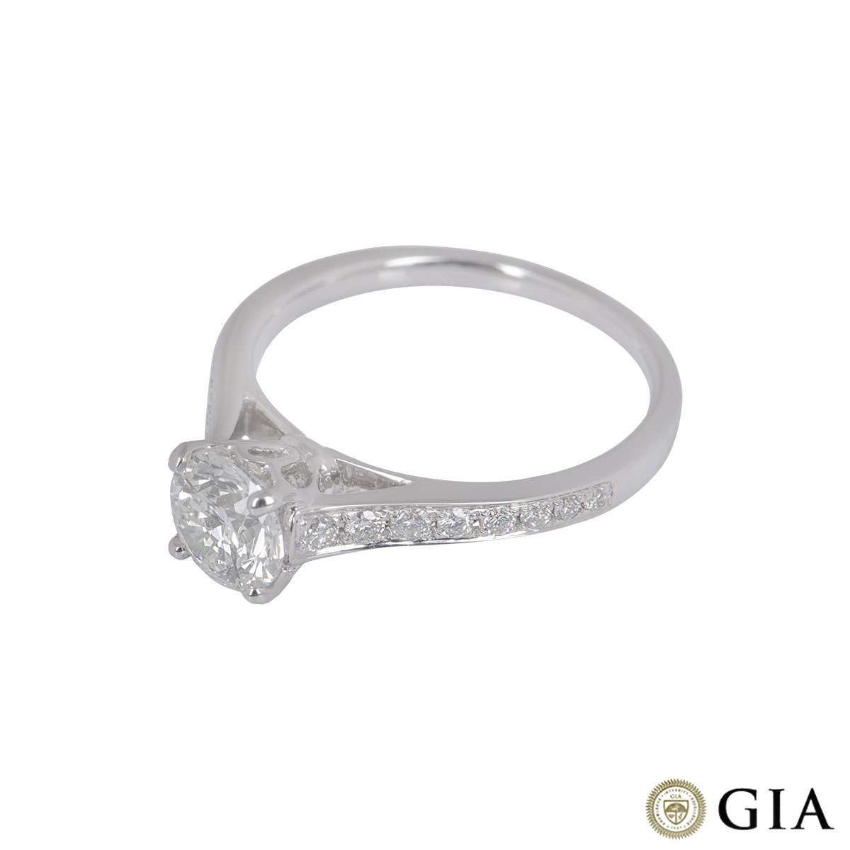 White Gold Round Brilliant Cut Diamond Ring 1.01ct G/VS1 XXX